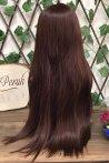 Kahverengi Uzun Düz Fiber Peruk
